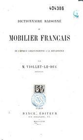 Dictionnaire raisonné du mobilier français: de l'époque carlovingienne à la Renaissance, Volume1