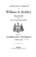 Annual Message of      the  Mayor of the City of Philadelphia with Annual Reports of the Departments     PDF