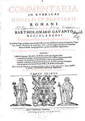Thesaurus sacrorum rituum: seu Commentaria in rubricas Missalis et Breviarii romani, Volume 1