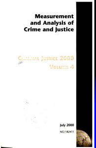 Criminal Justice 2000  Measurement and analysis of crime and justice PDF