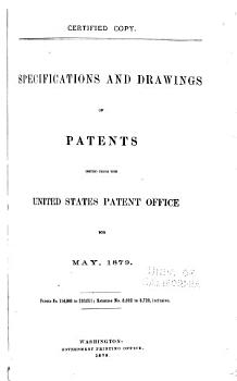 Specifications and Drawings of Patents Issued from the U S  Patent Office PDF