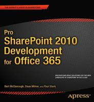 Pro SharePoint 2010 Development for Office 365 PDF