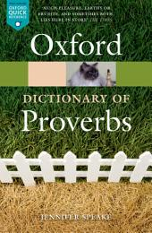 Oxford Dictionary of Proverbs: Edition 6