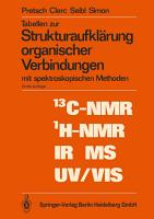Tabellen zur Strukturaufkl  rung organischer Verbindungen PDF