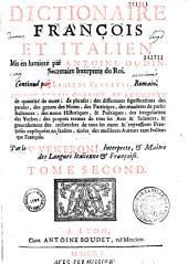 Dictionnaire italien et françois [-françois et italien]
