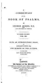 A Commentary on the Book of Psalms: Volume 3