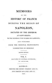 Memoirs of the History of France During the Reign of Napoleon: Volume 1