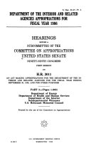 Department of the Interior and Related Agencies Appropriations for Fiscal Year 1986  Department of Energy PDF