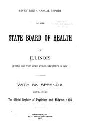 Annual Report of the State Board of Health of Illinois: Volume 17