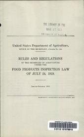 Rules and regulations of the Secretary of Agriculture under the Food products inspection law of July 24, 1919