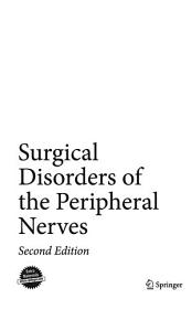 Surgical Disorders of the Peripheral Nerves Book