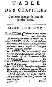 Histoire de l'admirable Don Quichotte de la Manche: en vi. volumes, Volume6