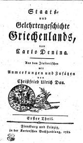 Staats- und Gelehrtengeschichte Griechenlands