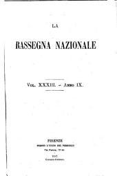 La Rassegna nazionale: Volume 33