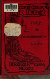 Código de procedimientos civiles vigente en el Distrito federal y territorios, promulgado el 15 de mayo de 1884