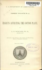 Insects Affecting the Cotton Plant
