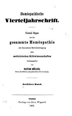 Hom  opathische Vierteljahrschrift PDF