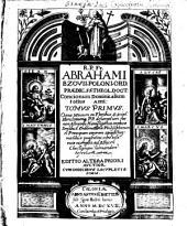 R. P. Fr. Abrahami Bzovii,... Concionum dominicalium totius anni :.
