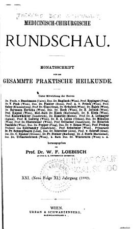 Die Therapie der Gegenwart PDF