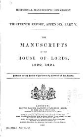The Manuscripts of the House of Lords: Volume 1, Part 3
