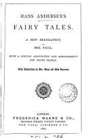 Hans Andersen s fairy tales  a new tr  by mrs  Paull PDF