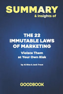 Summary   Insights of The 22 Immutable Laws of Marketing PDF