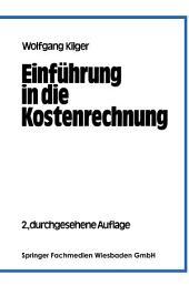 Einführung in die Kostenrechnung: Ausgabe 2