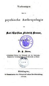 Analytische Philosophie. Vorlesungen über die psychische Anthropologie: 1,2