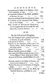 The Origin of Printing: In Two Essays: I. The Substance of Dr. Middleton's Dissertation on the Origin of Printing in England. II. Mr. Meerman's Account of the First Invention of the Art. An Appendix is Annexed, 1. On the First-printed Greek Books. 2. On the First-printed Hebrew Books, ... 3. On the Early Polyglotts