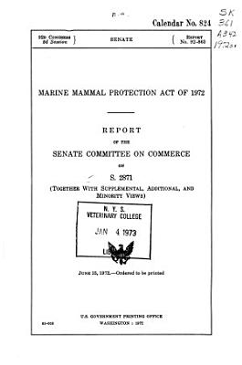 Marine Mammal Protection Act of 1972