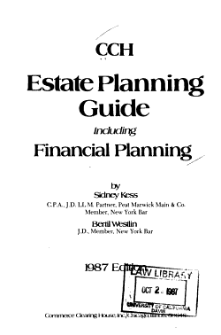 CCH Estate Planning Guide Including Financial Planning PDF