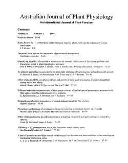 Australian Journal of Plant Physiology PDF