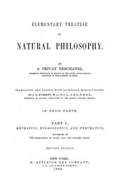 Elementary Treatise on Natural Philosophy: Mechanics, hydrostatics, and pneumatics