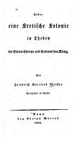 Ueber eine kretische kolonie in Theben PDF