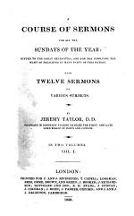 A Course of Sermons for All the Sundays of the Year
