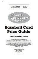 SCD Baseball Card Price Guide