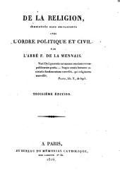 La Religion considerée dans ses rapports avec l ́ordre politique et civil