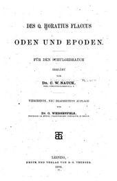 Des Q. Horatius Flaccus Oden und epoden: für den schulgebrauch erklärt