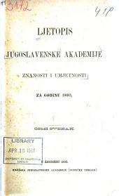 Ljetopis Jugoslavenske akademije znanosti i umjetnosti: Volumes 8-9