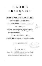 Flore française: Volume4