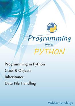Programming With Python PDF