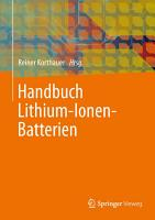 Handbuch Lithium Ionen Batterien PDF