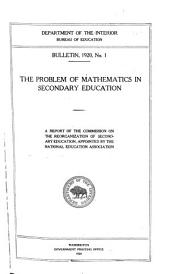 Feasibility of Consolidating the Schools of Mount Joy Township, Adams County, Pa: Issues 1-18