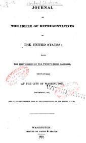 Journal of the House of Representatives of the United States: Volume 23, Issue 1