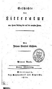 Geschichte der Litteratur von ihrem Anfang bis auf die neuesten Zeiten: Band 8
