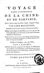 Voyage dans l'intérieur de la Chine et en Tartarie, fait dans les années 1792, 1793 et 1794: Volume4