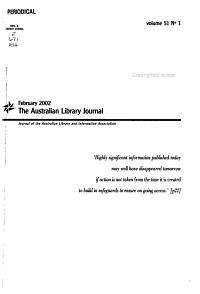 The Australian Library Journal PDF