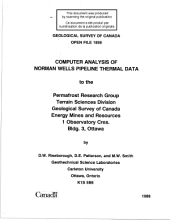 Geological Survey of Canada, Open File 1898