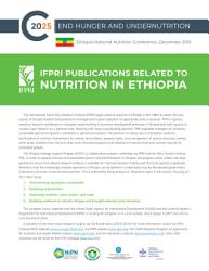 IFPRI publications related to nutrition in Ethiopia PDF