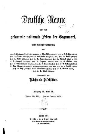 Deutsche revue   ber das gesamte nationale Leben der Gegenwart PDF